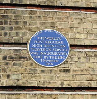 Television Birthplace Plaque At Alexandra Palace - London.