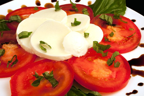 Close-up on Caprese Salad