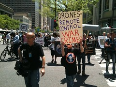 Protesting for Drone Victims
