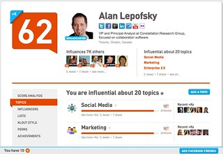 Klout May 28 2012