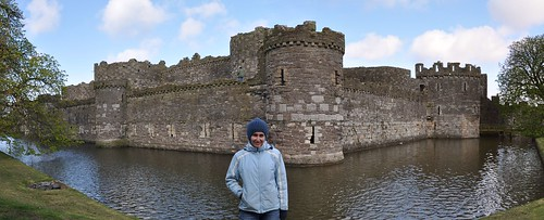 Beaumaris castle and its moat