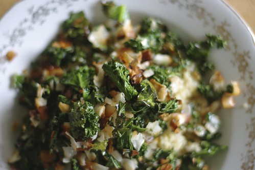 Kale Salad with Toasted Coconut