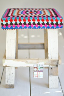 wood & wool stool linda