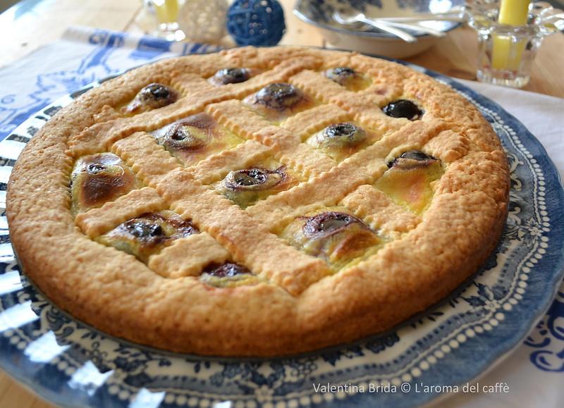Crostata crema ciliegie