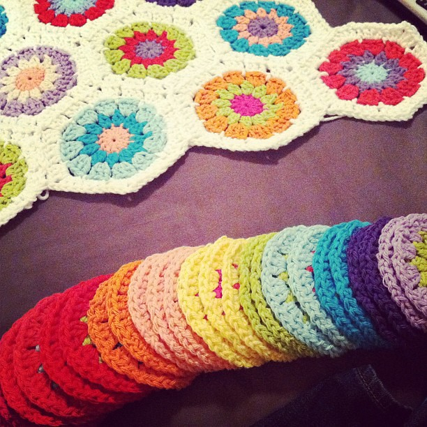 Anyone getting tired of #crochethexagons yet??