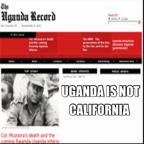 UGANDAN HEADLINE