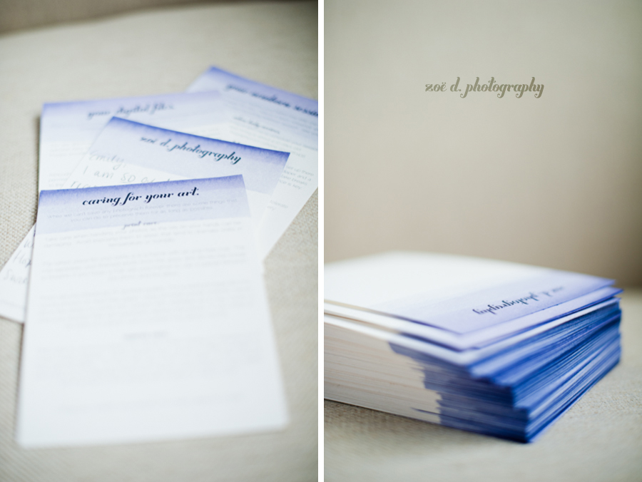 zoe d photography branding stationery dip dyed handmade