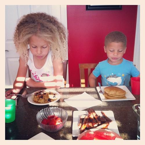 Daddy's making pancakes!