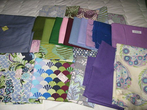 Handstitched quilt fabric