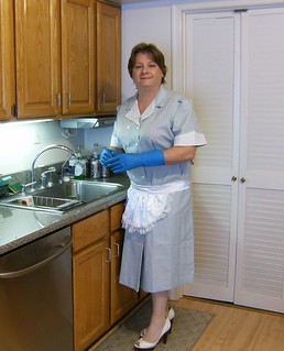 Chrisissy Sissy Maid in kitchen cleaning IV