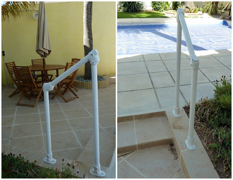 Pool Deck Stair Handrail Surface 29 Simple Rail Installation