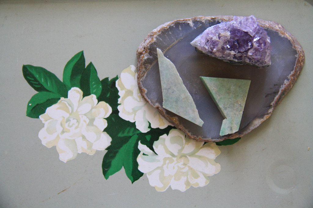 flea market finds: amethyst and other rocks