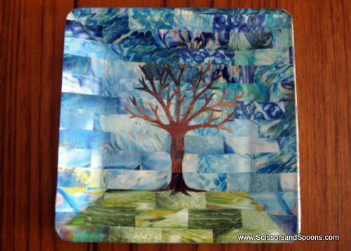 DIY Decoupage Collage Plate