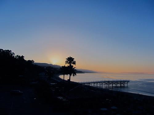 thursday morning sunrise in malibu