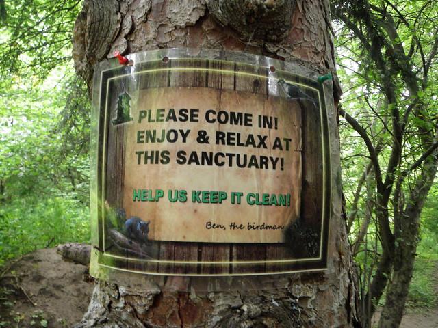 High park bird sanctuary sign