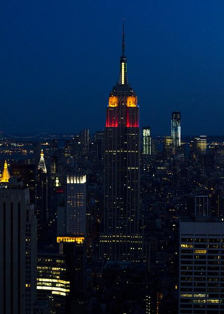Empire State en la hora azul