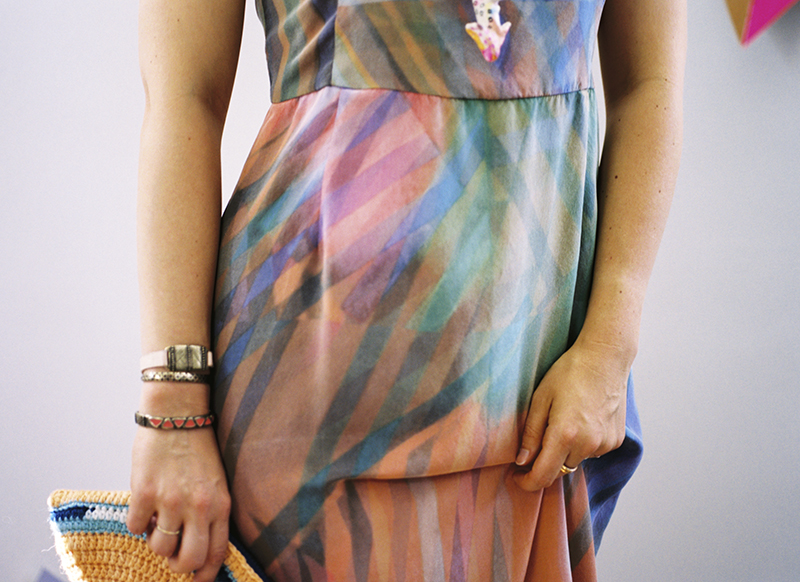 ERMIE Prism Print Midi Dress