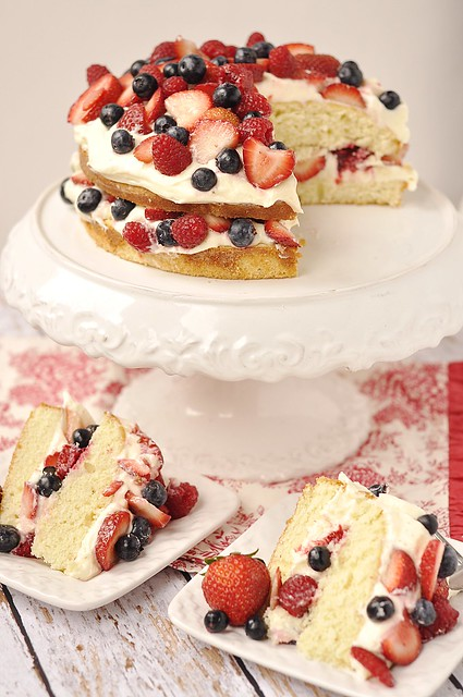 Almond Butter Cake with Berries