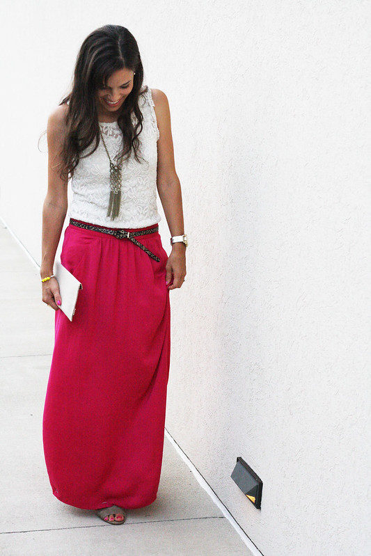 Maxi Skirt + Lace