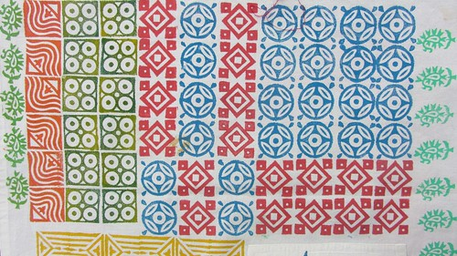 Design a Pattern with block printing by Colouricious