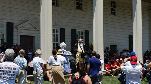 George and Martha Washington Reenactors