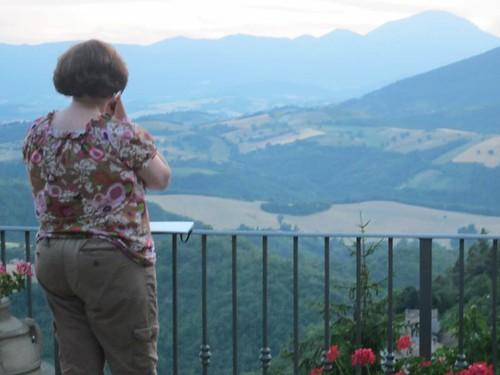 Diana on the terrace