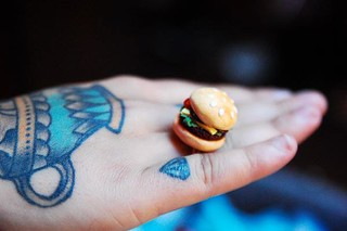Squibble & Co. Hamburger Ring modelled by Twyla