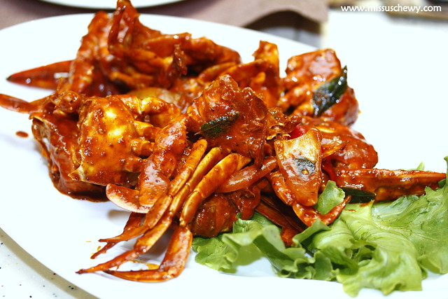 Nonya curry crab