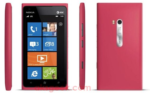 Pink Nokia Lumia 900