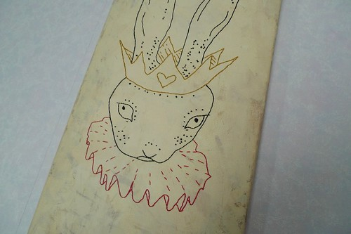 rabbit queen embroidery