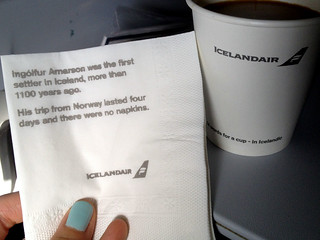 Icelandair Fun Napkin