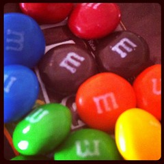 12/31:  texture. smooth m&ms. lolo and lola are home! #photoadayjuly