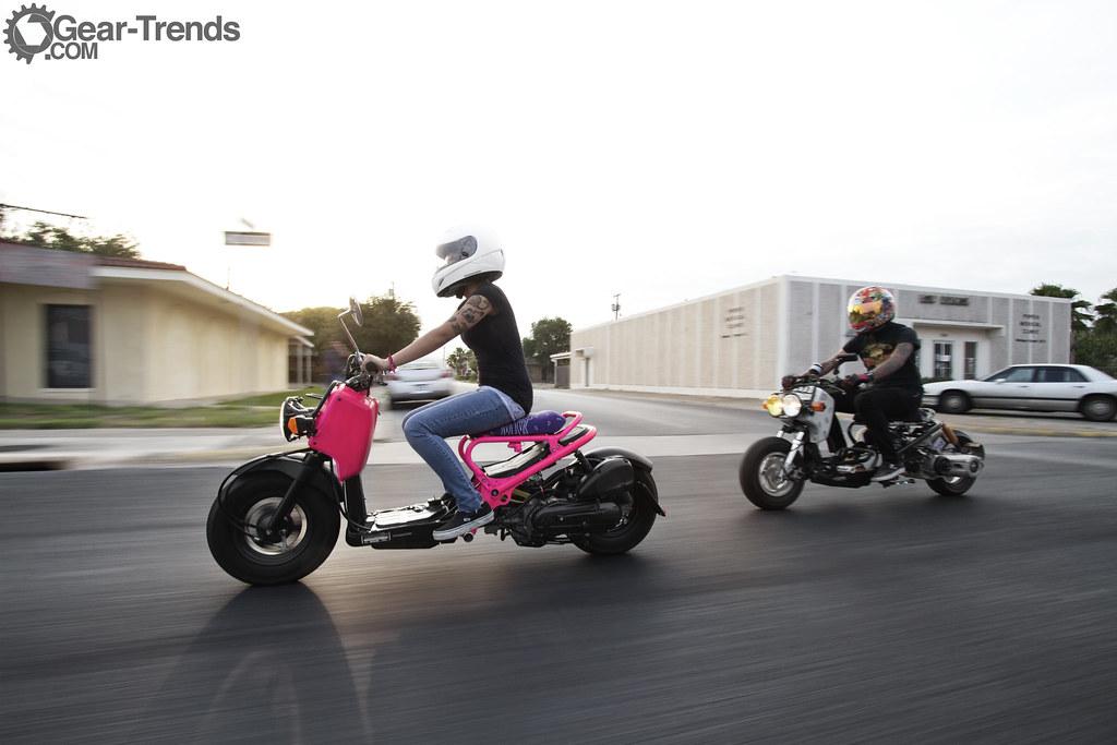 Honda ruckus modified pink