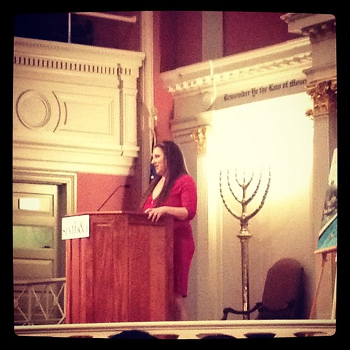 Jennifer Weiner speaking last night.