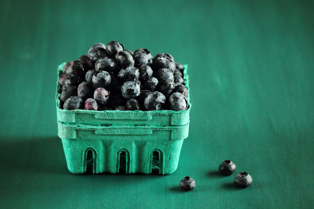 Blueberries, Blue.