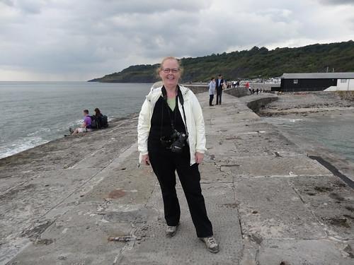 Me on the Seawall in Lyme Regis