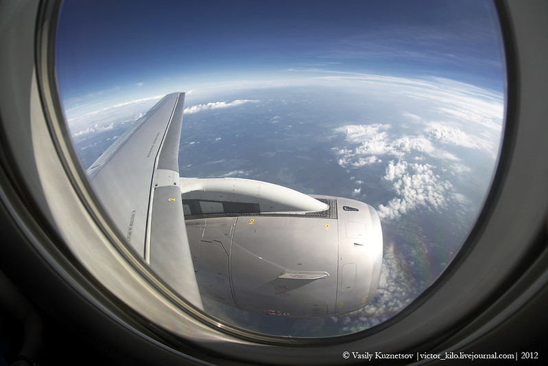 Window view on SuperJet wing