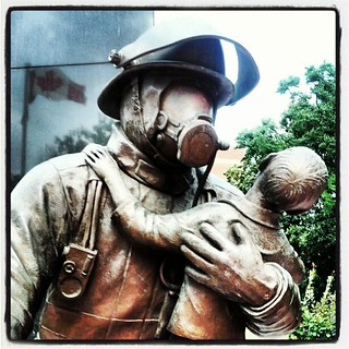 Image of Ontario Fire Fighters Memorial. toronto ontario canada monument statue queenspark firefighter firefighters