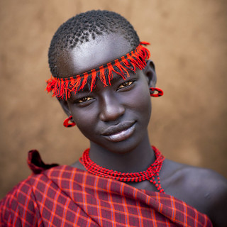 Miss Domoget, Bodi Tribe Woman With Headband, Hana Mursi, Omo Valley, Ethiopia