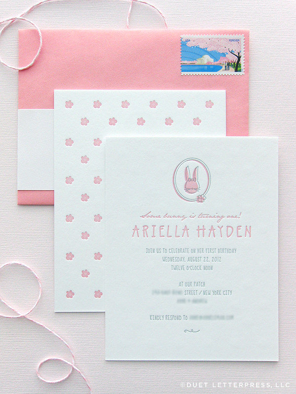 ariella's first birthday invitations
