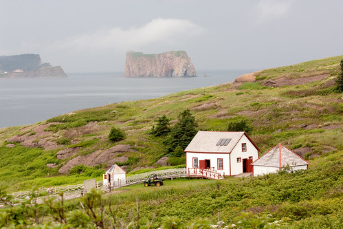 View of Percé rock from Bonaventure Island