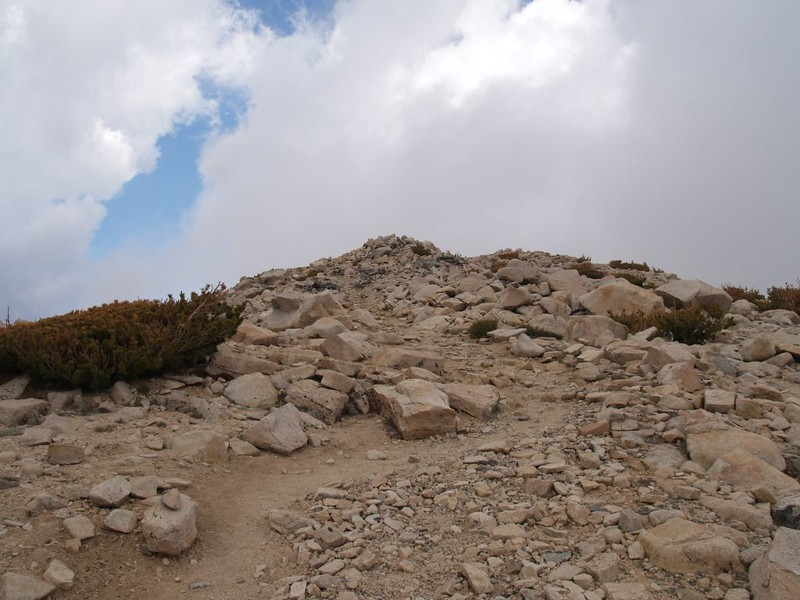 The final climb to the summit of San Gorgonio