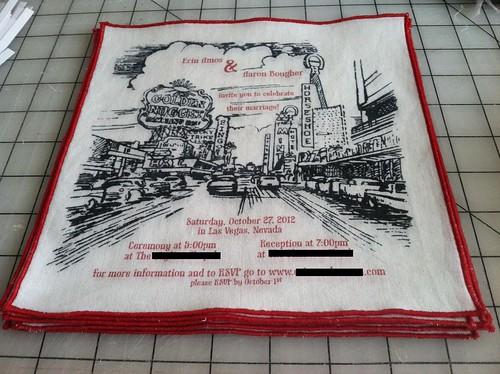Our vintage handkercheif wedding invitations