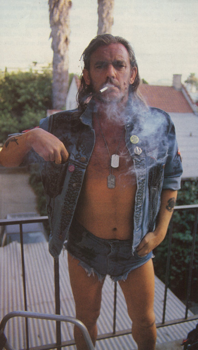 Lemmy Kilmister Motorhead short shorts daisy dukes
