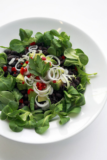 Black Beans, Avocado and Chilli Pepper