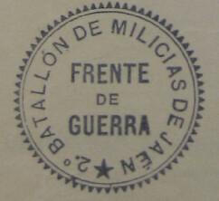 2º Batallón de Milicias de Jaén. Frente de Guerra
