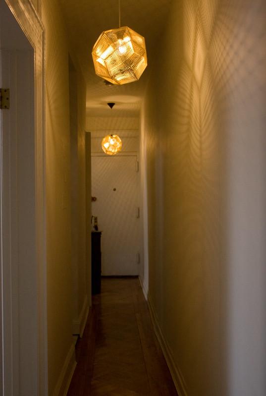 Hallway Pendants Lit