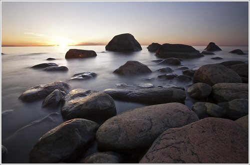 sunset sea summer seascape water stone estonia mohni coth theworldwelivein supershot goldstaraward coth5
