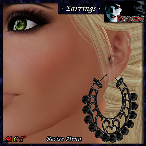 *P* Sherezade Earrings ~Black~