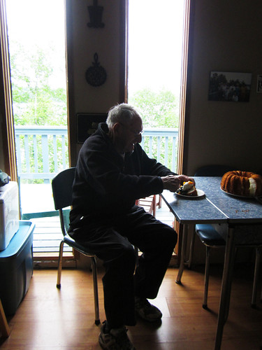 grandpa and his cake